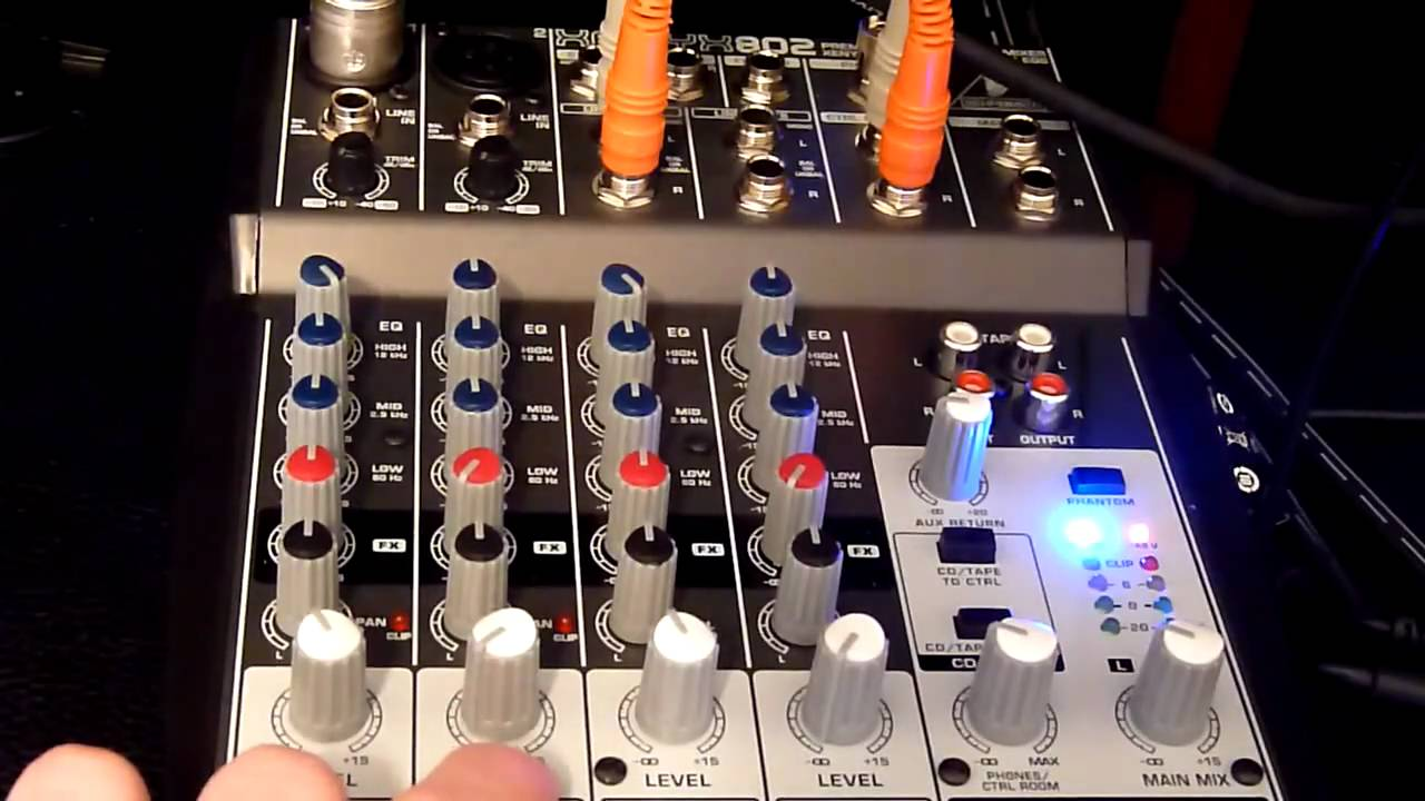 Review Behringer Xenyx 802 Mixer Youtube