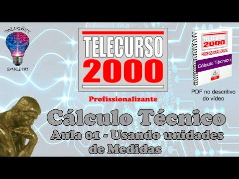 Telecurso 2000   Calculo Tecnico   01 Usando unidades de medida