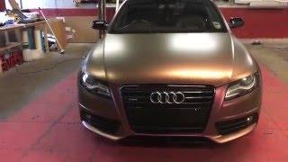 Audi A4 Quattro Aubergine Bronze Wrap 360