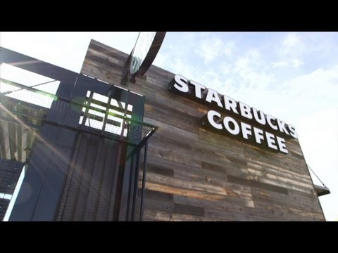 Starbucks makes stores from shipping containers