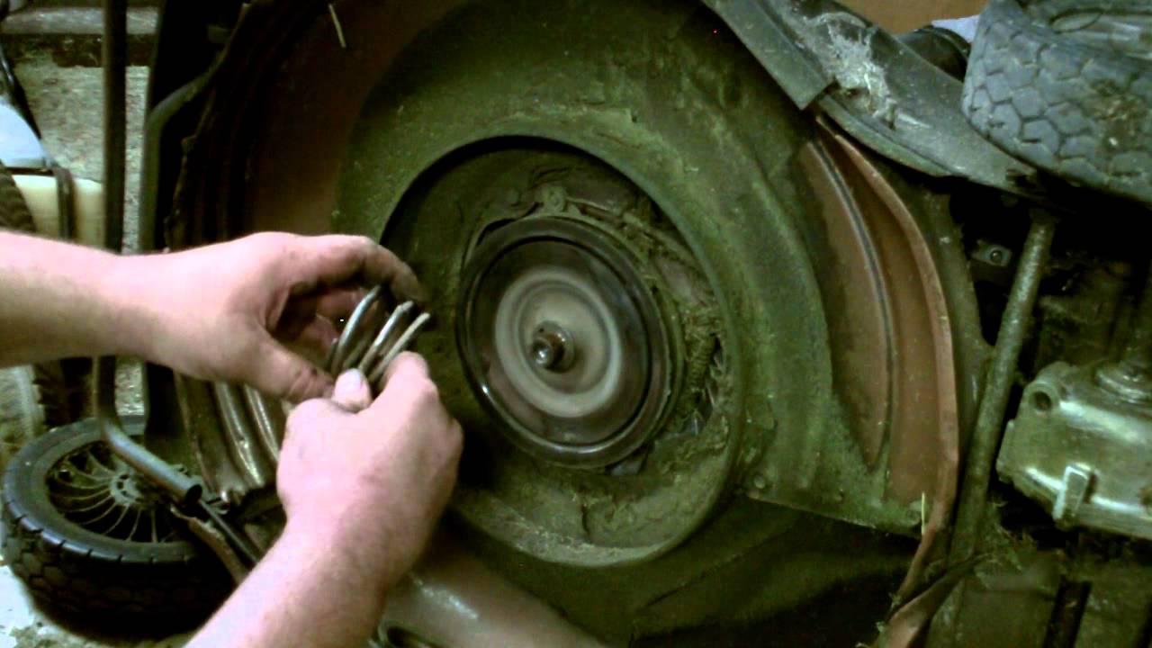 lawn mower repair honda hrc commercial mower repair   replace  broken clutch spring