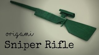 Easy Origami Sniper Rifle