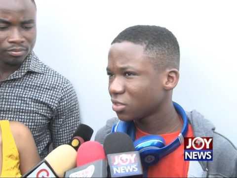 Abraham Attah arrives in Ghana