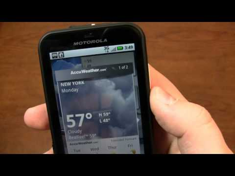 Video: Motorola Defy Review Part 1