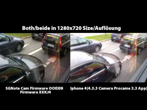 Samsung Galaxy Note vs Iphone 4 Video,Zoom,Pitures and FULL HD Compare