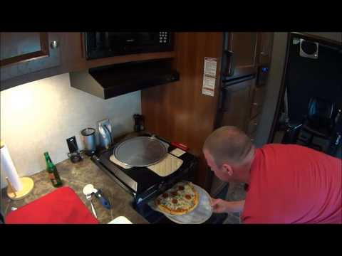 Homemade RV Pizza and custom pizza stone
