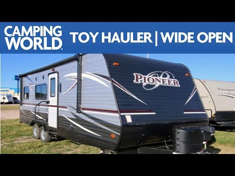 2018 Heartland Pioneer RG22   Toy Hauler Travel Trailer - RV Review: Camping World