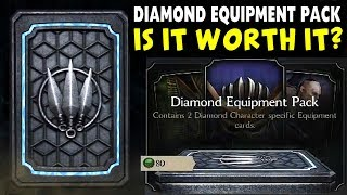 MKX Mobile 1.18. Huge Diamond Equipment Pack Opening. Is This Pack Good? Shao Kahn Helmet.