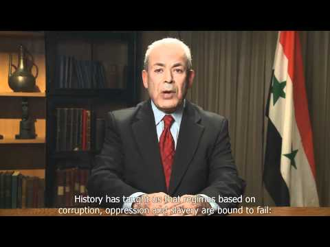 Dr. Burhan Ghalioun, SNC President Address to The Nation (in Full HD with English subtitle)