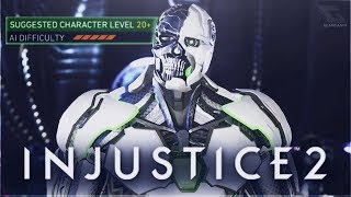 Injustice 2 - Level 20 Grid Multiverse Boss Fight! [Cyber Crime: No Limits]