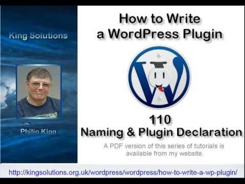 0 110 WordPress Plugin Naming and Declaration (Video)   How to Write a WordPress Plugin series