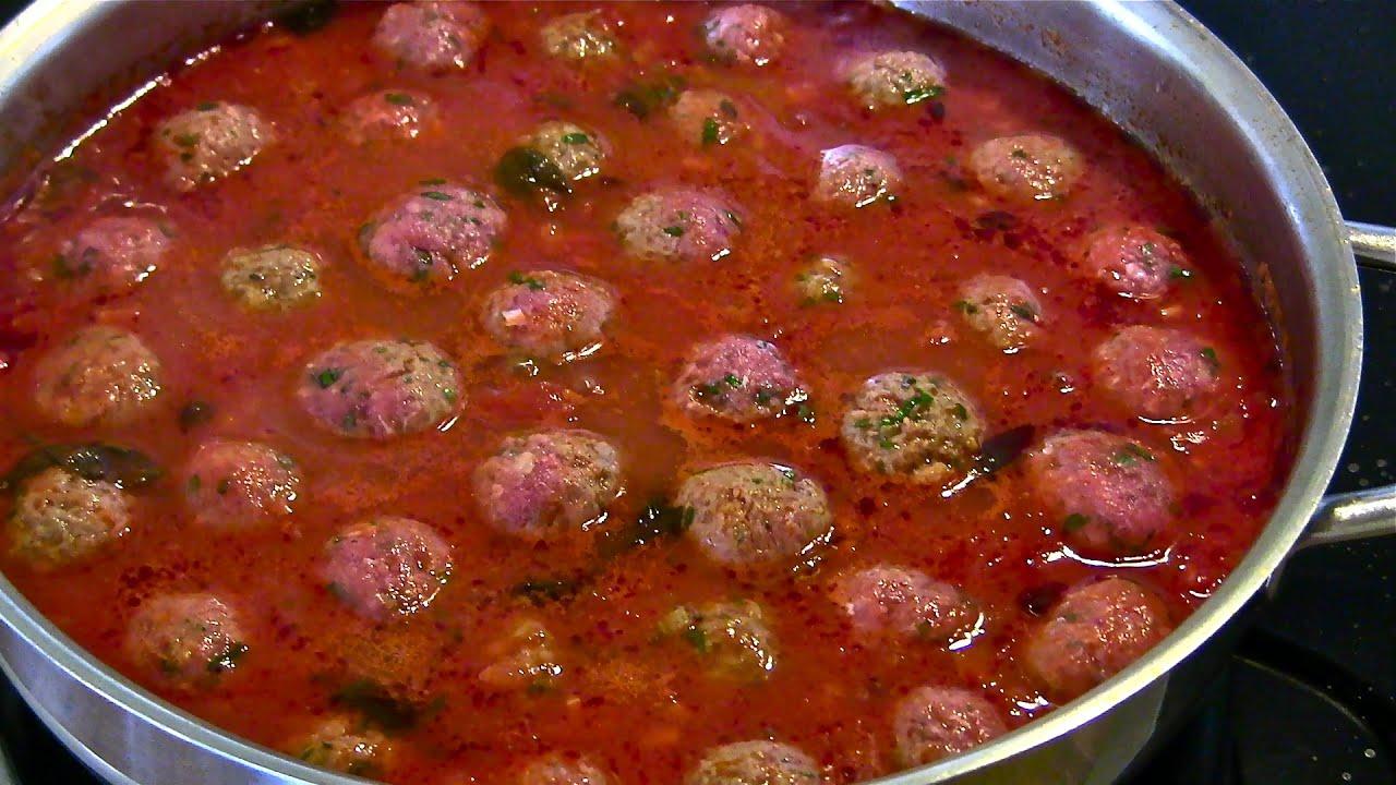 Italian Meatballs-Meatballs in Tomato Sauce-Italian ...