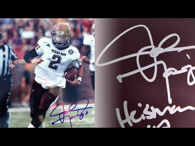Johnny Football in trouble for his Johnny Hancock