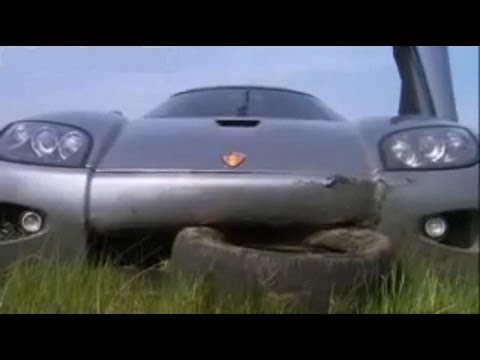 Stig crashes Koenigsegg CCX - Top Gear series 8 - BBC