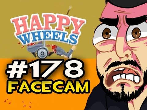 Happy Wheels w/Nova Ep.178 FACECAM - AN AXE IN MY ASS