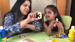 Learn Numbers for Kids Baby Wooden Numbers Painting Learning Colors Fun Paint Activity for Toddlers