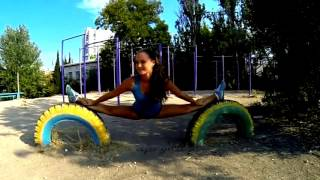 Девушка воркаут, Girl street workout