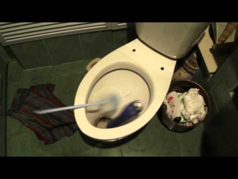 How to wash a toilet for 1 second Как помыть унитаз за 1 секунду