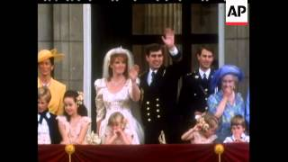 The Royal Wedding of Prince Andrew and Miss Sarah Ferguson - No Sound - 1986
