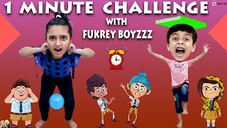 1 MINUTE CHALLENGE with Fukrey Boyzzz Girl vs Boy #Funny Aayu and Pihu Show