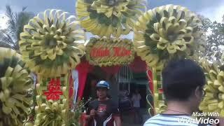 Cổng cưới lá dừa 5 bông và cổng rồng phụng ( 19/9/2018 )