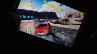 Fujitsu Docomo f-02e Arrows x gameplay! Asphalt 8 and Need For Speed Most Wanted!