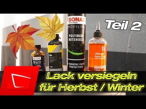 Autolack Versiegelungen für Herbst und Winter 2 Wochen Update! Sonax Liquid Elements CarPro Fireball