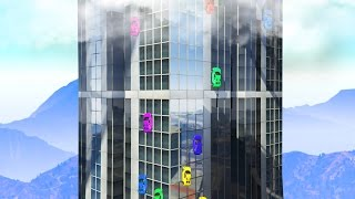DRIVING UP SKYSCRAPERS! (GTA 5 Funny Moments)
