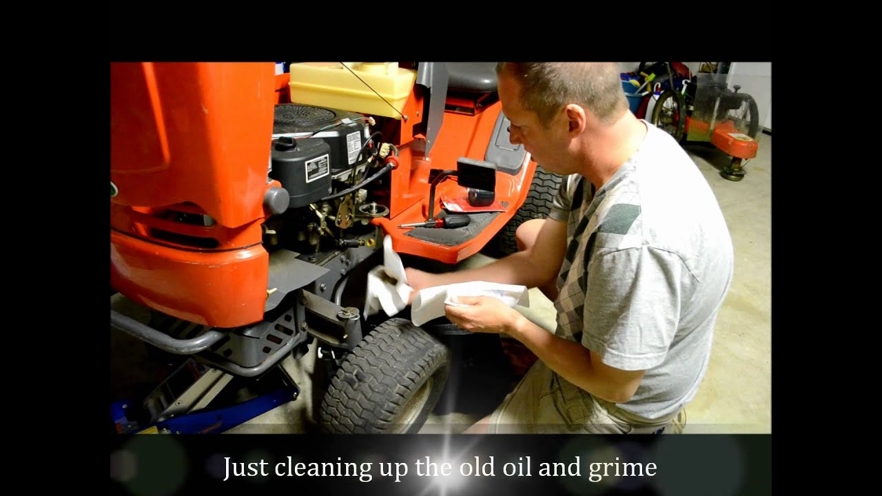 Oil Change Restoring A Scotts Riding Lawn Mower Tractor