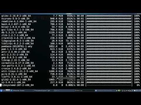Установка Arch Linux (образ 2012)