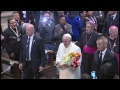 Pope in South America visit to the President  of Bolivia to the Government Palace
