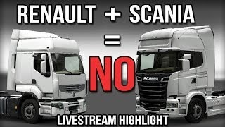 Renault + Scania = NO!! - Renault Refuses To Be Pulled! - Livestream Highlight