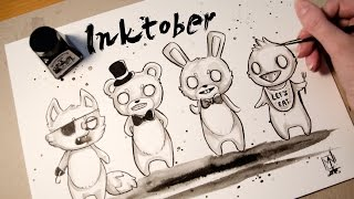 Speed Painting FNAF, Chibi Style - INKTOBER