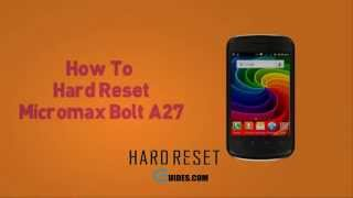 Micromax A27 Hard Reset