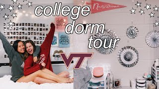 COLLEGE FRESHMAN DORM TOUR || Virginia Tech