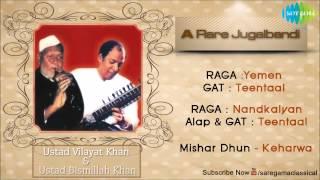 A Rare Jugalbandhi | Hindustani Classical Instrumental Jukebox | Vilayat Khan, Bismillah Khan