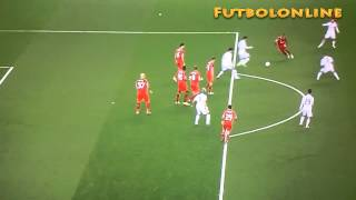 1er Gol Karim Benzema pase de Toni Kroos Liverpool 0 vs 3  Real Madrid All Goals & Highlights 2014