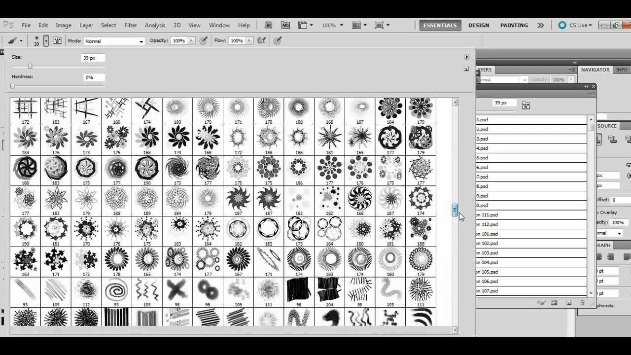 Photoshop CS6 - How to load brushes - YouTube