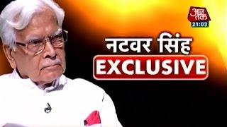 Exclusive interview with Natwar Singh