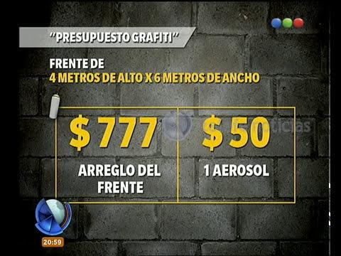 El presupuesto para borrar grafitis - Telefe Noticias