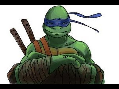 How to draw Leonardo from Teenage Mutant Ninja Turtles 2014, TMNT