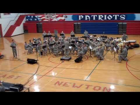 Army Band performing at East Newton High School on Nov. 6, 2009
