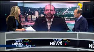 Newsroom guest smokes what appears to be dagga on air