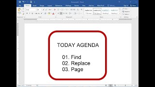 how to Find, Replace, Page in Microsoft Office Word |  MS Office 365 Tutorial