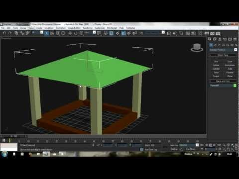 Tutorial animasi bangun rumah wireframe 3ds max