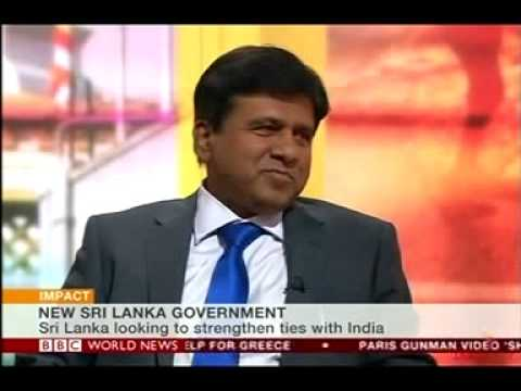 Justice Minister of  Sri Lanka- Dr. Wijeyadasa Rajapakshe on BBC world news  - 26.02.2015