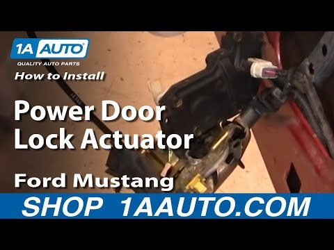 How To Install Replace Power Door Lock Actuator Ford Mustang 99-04 1AAuto.com