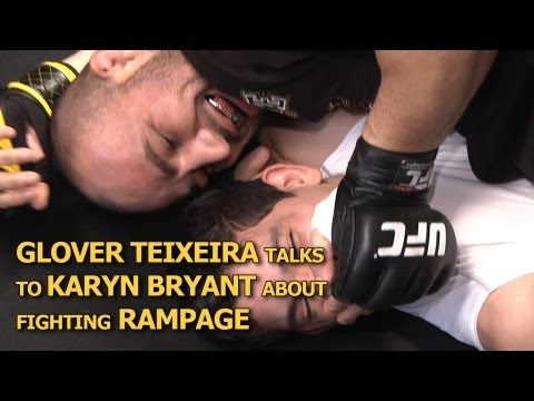 UFC on FOX 6 Glover Teixeira On Fighting Rampage Training With Machida  Chugging Coffee