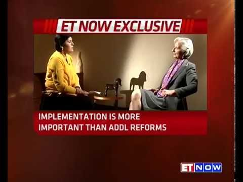IMF Chief Christine Lagarde On ET NOW | EXCLUSIVE
