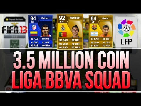 FIFA 13 - My Favourite...LIGA BBVA TEAM! 3.5 Million Coin Squad Builder!